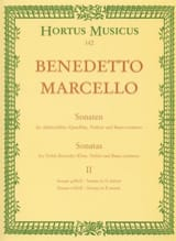 Benedetto Marcello - Sonaten op. 2 - Bd. 2 Nr. 3-4 - Altblockflöte u. Bc - Sheet Music - di-arezzo.co.uk