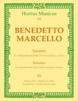 Benedetto Marcello - Sonaten op. 2 - Bd. 3 (Nr. 6-7)– Altblockflöte (Flöte, Violine) u. Bc - Partition - di-arezzo.fr