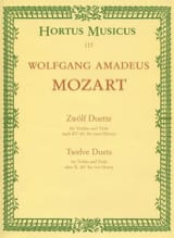 MOZART - 12 Duet - Sheet Music - di-arezzo.co.uk