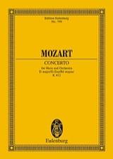 Horn-Konzert Nr. 1 D-Dur KV 412 MOZART Partition laflutedepan.com