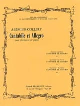 Cantabile et Allegro Armand Semler-Collery Partition laflutedepan.com