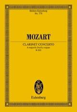 Klarinettenkonzert A-Dur KV 622 - Partitur MOZART laflutedepan.com