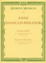 Anne Danican-Philidor - Sonata in re minore per Flauto dolce e Basso continuo - Partitura - di-arezzo.it