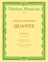 Johann Joachim Quantz - Concerto Pour Potsdam – Partitur - Partition - di-arezzo.fr