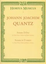 Johann Joachim Quantz - Sonate D-Dur - Flöte Oboe, Violine u. B.C. - Partition - di-arezzo.fr