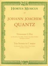Johann Joachim Quantz - Triosonate C-Dur – Altblockflöte Flöte u. BC - Partition - di-arezzo.fr