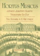 Johann Joachim Quantz - Triosonate Es-Dur – Flöte, Violine Bc (o. Flöte u. obl. Cembalo) - Partition - di-arezzo.fr