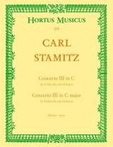 Carl Stamitz - Concerto n° 3 en do majeur pour violoncelle –Conducteur - Partition - di-arezzo.fr