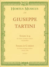 Giuseppe Tartini - Sonata Minor Sol Devil's Trill - Sheet Music - di-arezzo.co.uk