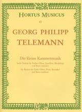 Georg Philipp Telemann - Die kleine Kammermusik - Partition - di-arezzo.fr