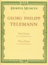 Georg Philipp Telemann - 3 Duette für 2 Melodieinstrumente aus Der getreue Musikmeister - Partition - di-arezzo.fr
