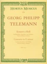 Georg Philipp Telemann - Konzert e-moll TWV 52 : e1 – Partitur - Partition - di-arezzo.fr