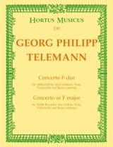 Georg Philipp Telemann - Concerto F-Dur für Altblockflöte – Partitur - Partition - di-arezzo.fr