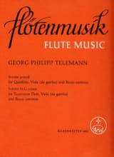 Georg Philipp Telemann - Sonate g-moll - Flöte, Viola (Viola da Gamba) u. Bc - Partition - di-arezzo.fr