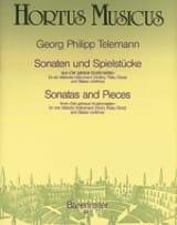 Sonaten und Spielstücke TELEMANN Partition Violon - laflutedepan.com
