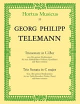 Georg Philipp Telemann - Triosonate C-Dur – 2 Altblockflöten u. BC - Partition - di-arezzo.fr