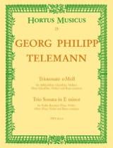 Georg Philipp Telemann - Triosonate e-moll – Altblockflöte (Flöte), Oboe (Violine) u. BC - Partition - di-arezzo.fr