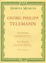 TELEMANN - 4 Sonaten - Altblockflöte u. Bc - Sheet Music - di-arezzo.co.uk