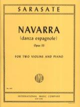 Navarra op. 33 -2 Violins piano SARASATE Partition laflutedepan