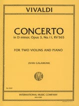 VIVALDI - Concerto D minor op. 3 n ° 11 RV 565 - 2 Violins piano - Sheet Music - di-arezzo.com