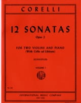 12 Sonatas op. 2 - Volume 1 : n° 1-4 –2 Violins piano laflutedepan.com