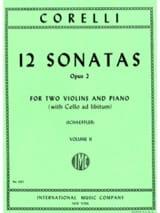 12 Sonatas op. 2 - Volume 2 : n° 5-8 -2 Violins piano laflutedepan.com