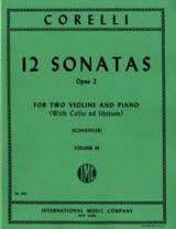 12 Sonatas op. 2 - Volume 3 : n° 9-12 -2 Violins piano laflutedepan.com