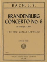 BACH - Brandenburg Concerto No. 6 BWV 1051 - 2 Violas piano - Sheet Music - di-arezzo.co.uk