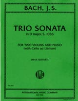 Johann Sebastian Bach - Trio Sonata in D minor BWV 1036 – Parts - Partition - di-arezzo.fr