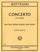 Giovanni Bottesini - Concerto –2 Contrebassi piano - Partition - di-arezzo.fr