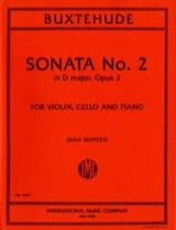 Sonata n° 2 D major op. 2 -Parts BUXTEHUDE Partition laflutedepan
