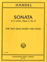 Sonata G minor op. 2 n° 8 – 2 String basses piano laflutedepan.com