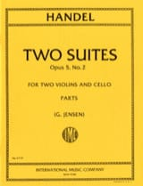 Georg Friedrich Haendel - 2 Suites - op. 5 n° 2 - Partition - di-arezzo.fr