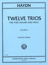 12 Trios - Volume 2 -2 Violins Viola HAYDN Partition laflutedepan