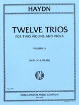 Joseph Haydn - 12 Trios - Volume 2 –2 Violins Viola - Partition - di-arezzo.fr