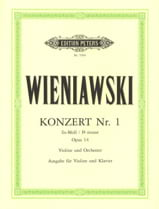 Henryk Wieniawski - Concerto n° 1 fa dièse mineur op. 14 - Violon - Partition - di-arezzo.fr