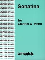 Sonatina - Malcolm Arnold - Partition - Clarinette - laflutedepan.com