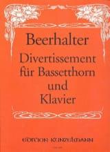 Alois Beerhalter - Divertissement für Bassetthorn und Klavier - Partition - di-arezzo.fr