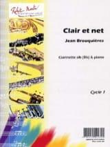 Clair et net Jean Brouquières Partition Clarinette - laflutedepan.com