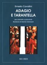 Adagio e Tarantella Ernesto Cavallini Partition laflutedepan.com
