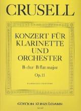Bernhard Henrik Crusell - Konzert B-Dur op.11 – Klarinette Klavier - Partition - di-arezzo.fr