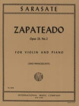 Pablo de Sarasate - Zapateado op. 23 n ° 2 - Sheet Music - di-arezzo.co.uk