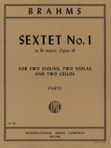 BRAHMS - Sextet n ° 1 in Bb major op. 18 - Parts - Sheet Music - di-arezzo.com