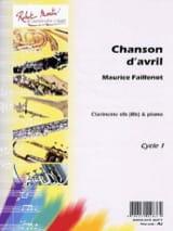 Chanson d'avril Maurice Faillenot Partition laflutedepan.com