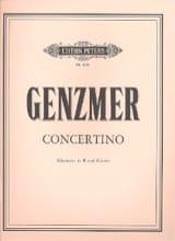 Harald Genzmer - Concertino - Klarinette Klavier - Partition - di-arezzo.fr