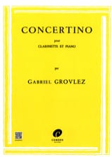 Concertino –Clarinette Gabriel Grovlez Partition laflutedepan.com
