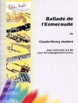 Ballade de l'Esmeraude Claude-Henry Joubert Partition laflutedepan.com