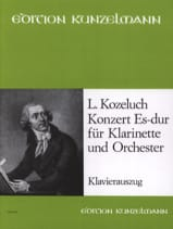 Konzert Es-Dur -Klarinette Klavier Léopold Kozeluch laflutedepan.com