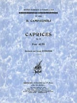 Bartolomeo Campagnoli - Caprices op. 22 - Alto - Sheet Music - di-arezzo.co.uk