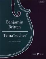 Benjamin Britten - Tema 'Sacher' - Partition - di-arezzo.fr
